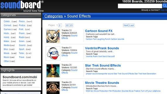 Top 5 Sites For Free Sound Effects Downloads board