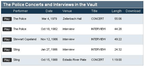 concertvault21   Concert Vault: Listen To Live Concert Recordings Online
