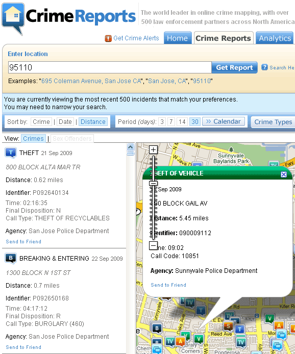 crime reports by zip code