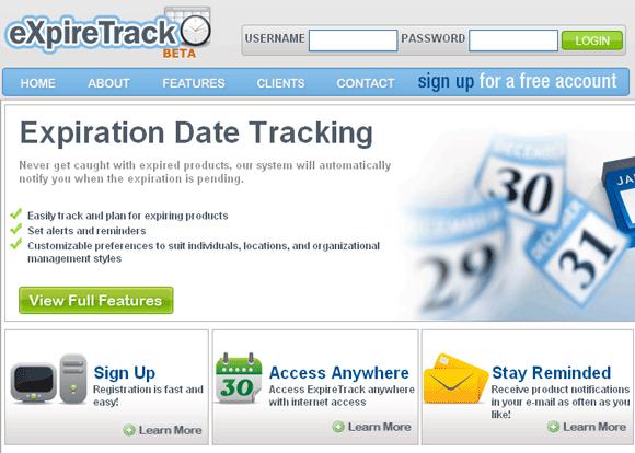 expiration date tracker