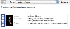 How To Use A Facebook Badge As Your Email Signature [Mac]
