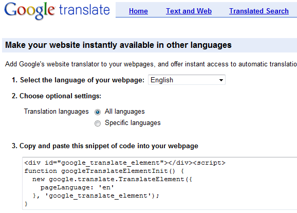 translate your site
