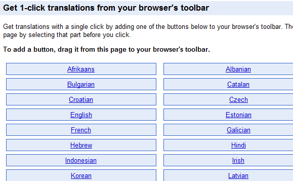 translate website using google