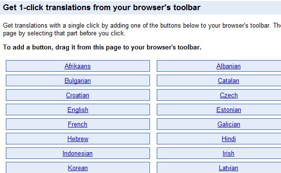translate website using google