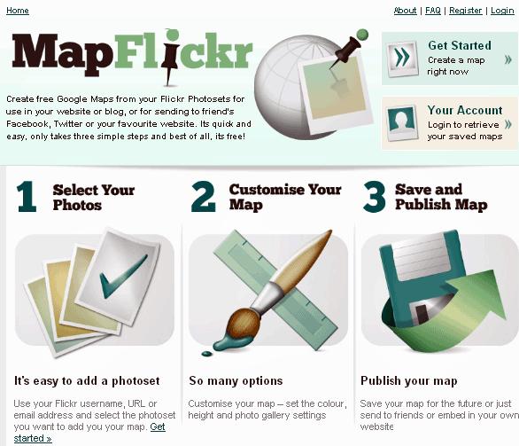 flickr photos on google maps