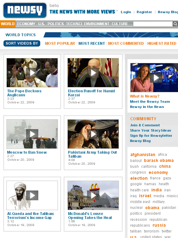 newsy   Newsy: Online News Videos Aggregator