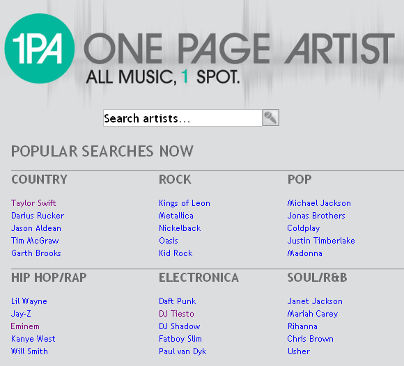 information about music artists