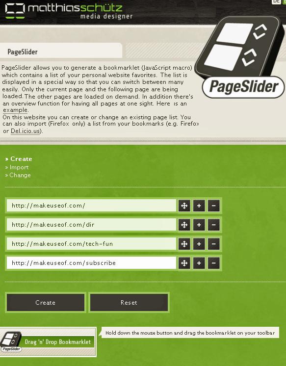 create a bookmarklet