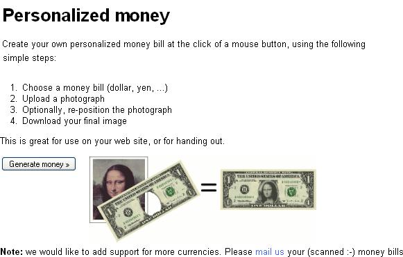 personalized money generators