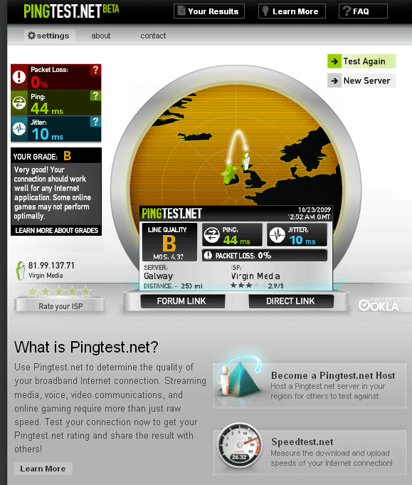 broadband quality test