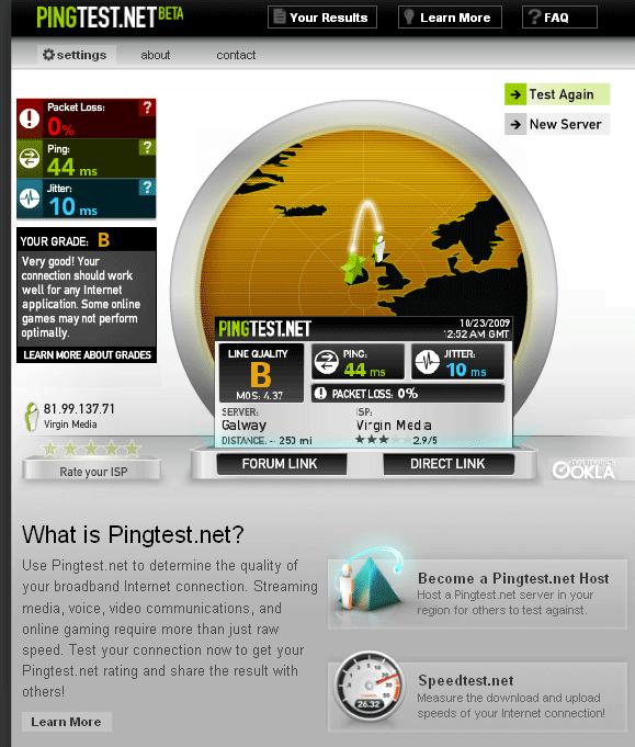 broadband quality test