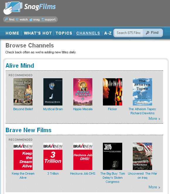 snagfilms   SnagFilms: Free Library Of Documentaries To Watch Online