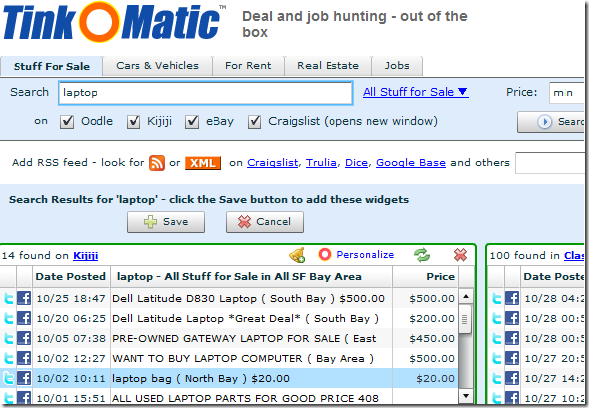 search multiple classifieds