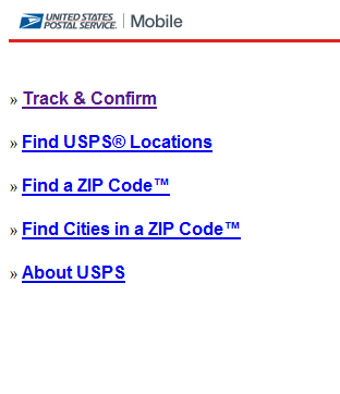 mobile package tracking