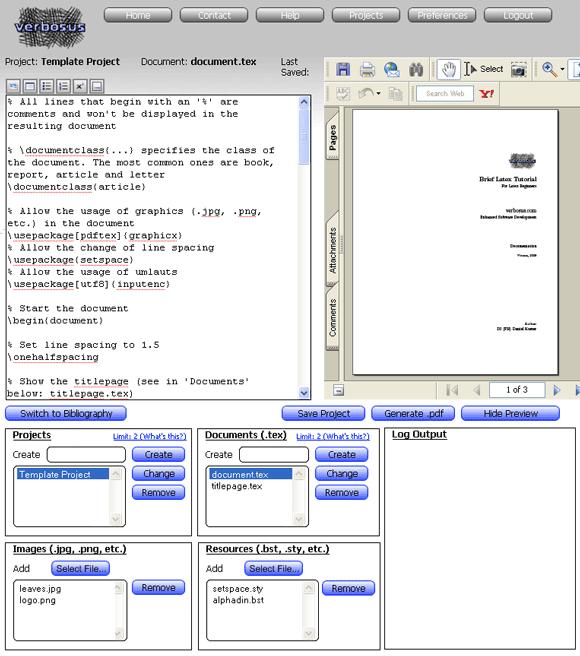 web based latex editor