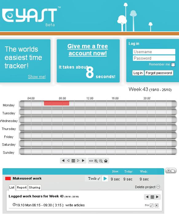 free web based time tracker