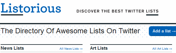 How To Create, Discover and Follow Twitter Lists Listorious