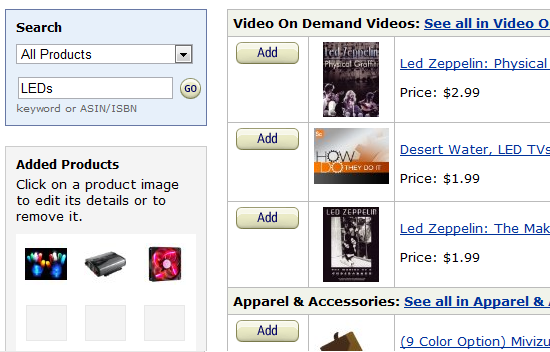 add amazon to blog