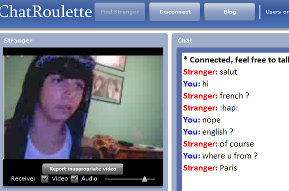 webcam chat with stranger