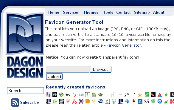 turn image into favicon