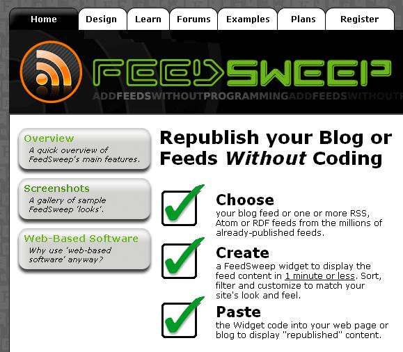 rss to widget