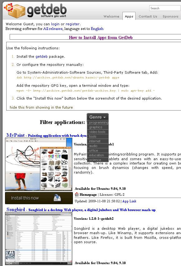 getdeb.net repository