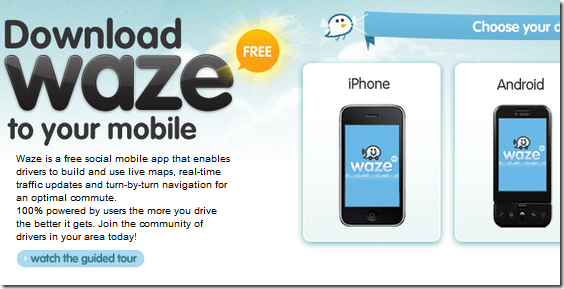 Waze: Get Real-Time Traffic Maps on Your Mobile