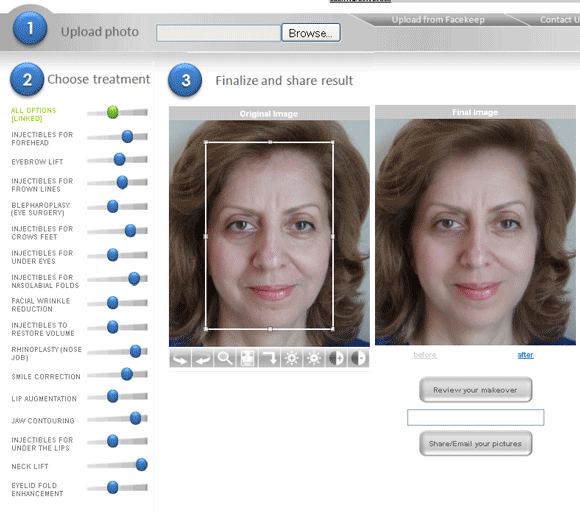 how you would look with plastic surgery