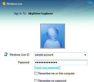 Easily Manage Files On Your Windows Skydrive With Skydrive Explorer login