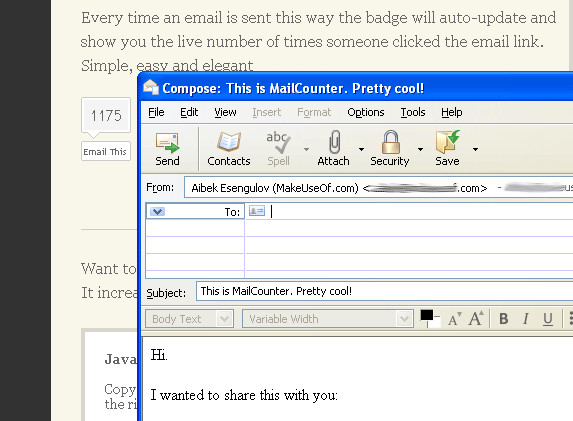 email this button