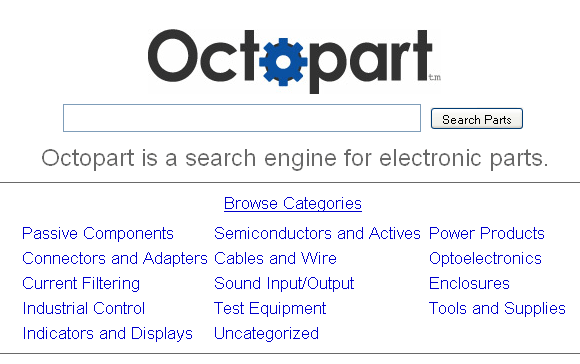electronics parts search