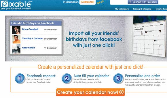 online calendar facebook