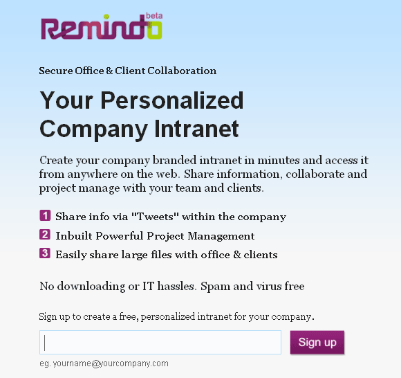 free web based intranet