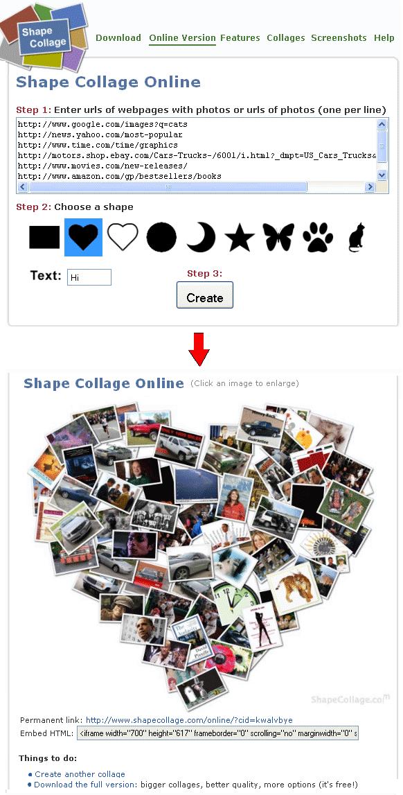 shape collage maker