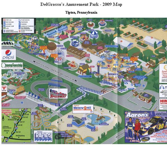 theme park maps free