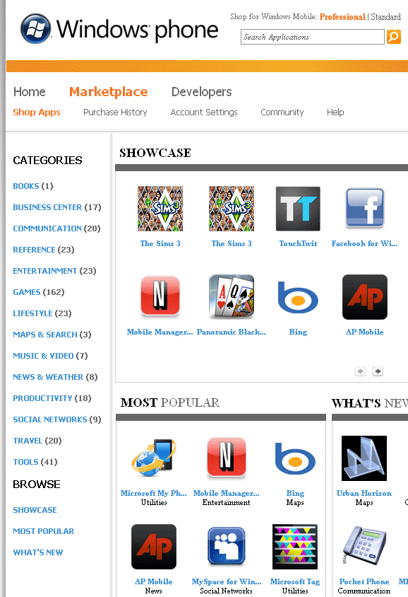 apps for windows mobile
