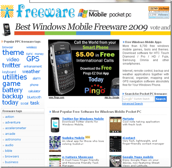 windows mobile 6 freeware