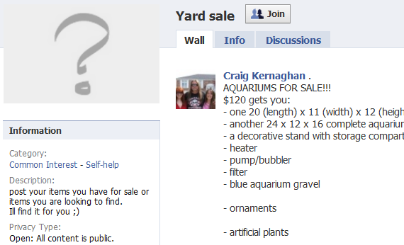 selling stuff on facebook