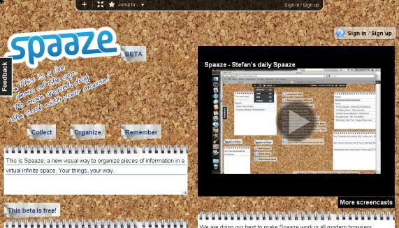 Optimized spaaze   Spaaze: Free Virtual Corkboard Online