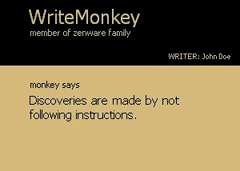 WriteMonkey – A Simple Text Editor For The Easily Distracted