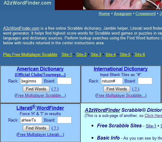 a2z WordFinder: Online Scrabble Dictionary & Word Generator – NBCDAILY