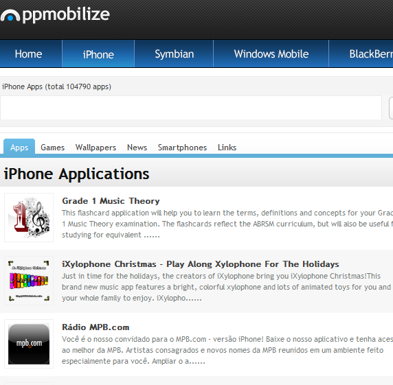 AppMobilize: An Online Directory Of Mobile Phone Apps appmobilize1