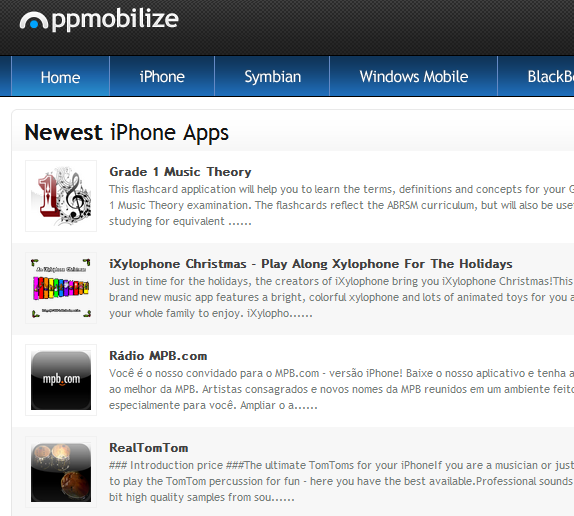 AppMobilize: An Online Directory Of Mobile Phone Apps appmobilize2