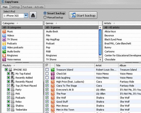 copytrans1   CopyTrans4: iPod / iPhone Transfer, Backup & Recovery Utility
