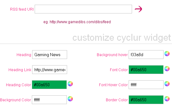 Cyclur: Create a Customizable RSS Widget for Website cyclur