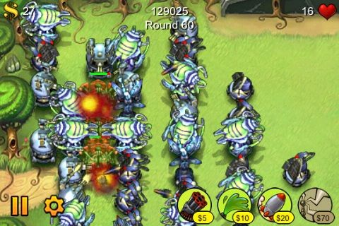 The Best iPhone Tower Defense Games 2009 + Giveaway fieldrunners3