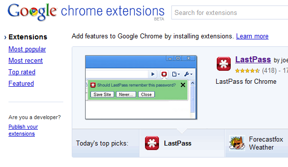 install google chrome extensions