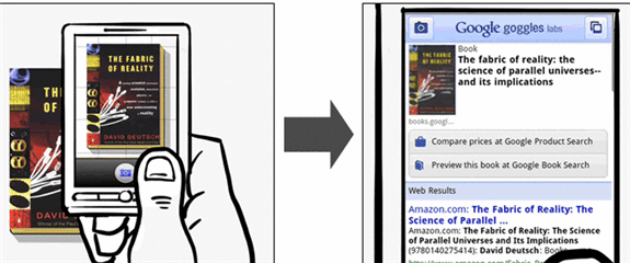 googlegoggles2   Google Goggles: Conduct a Google Search Using Pictures (Android Phone)