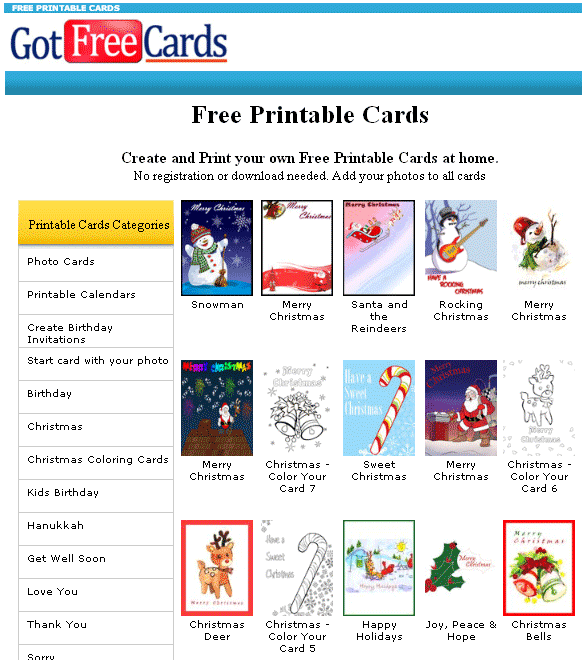 custom printable greeting cards