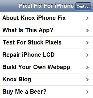 fix stuck pixels iphone